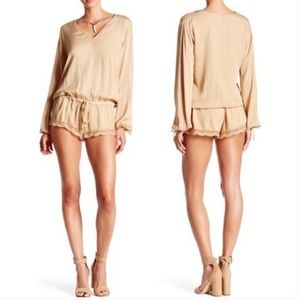 One Teaspoon tan Priscilla romper. XS
